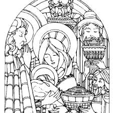 picture nativity of baby jesus coloring page play color