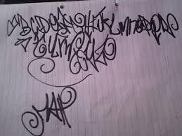 graffiti fonts sketch graffiti alphabet paper letter a z