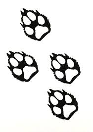 wolf paw print clip search shapes line