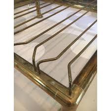 brass wine glass hanging rack chairish