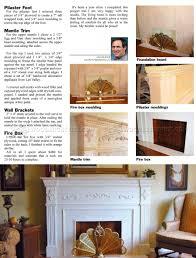 faux fireplace mantle plans u2022 woodarchivist