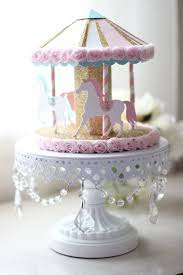 3d carousel cake topper or centerpiece