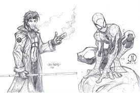 spiderman gambit commission by metaworks on deviantart