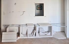 fabriquer sa cuisine realiser une cuisine en siporex plan de travail salle bain bois 3