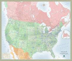 map of us and canada highways maps of usa