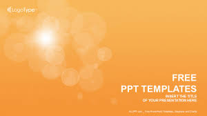 powerpoint design free download 2015 orange bubbles abstract ppt templates