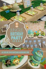 jungle birthday party a boy s jungle safari birthday party spaceships and