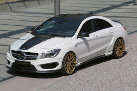 mercedes customized this custom mercedes cla45 is a turbo sapphire