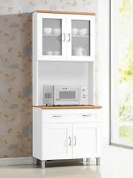 white tall microwave cabinet stand hutch pantry cart storage