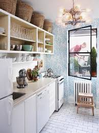 small vintage kitchen ideas small kitchen storage put baskets above the cabinets inside