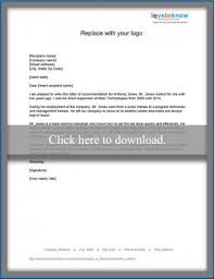 examples of recommendation letters lovetoknow