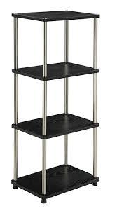 amazon com convenience concepts designs2go 4 tier bookshelf media