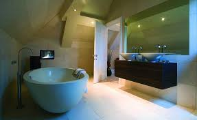 pleasing bathroom tv installation with interior design ideas for