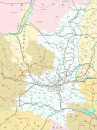 China Province Map Shaanxi Province China Overview Map By Chinareport Com