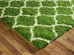 Green Trellis Rug Thick Soft Area Rugs Plush Throw Bedroom Gray And White Rug Fluffy