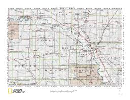 Nebraska County Map Bow Creek Logan Creek And Other Nearby Drainage Divide Area
