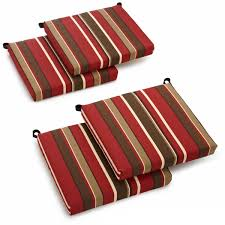 Patio Chair Cushions On Sale Blazing Needles All Weather Outdoor Patio Chair Cushion Set Of 4