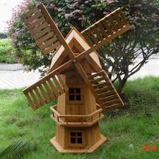 new 90cm wooden windmill garden ornament plant holder outdoor