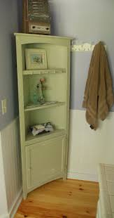 bathroom ideas green mint corner bathroom cabinet and storages