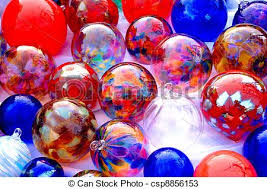 stock photos of colored glass balls a collection of colored