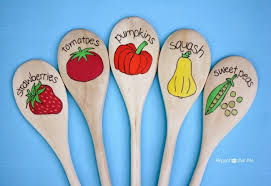 Vegetable Garden Labels by Wooden Spoon Garden Markers Repeat Crafter Me