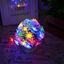 Outdoor Fairy Lights Solar by Solar Outdoor String Lights 6m 30 Led Lotus Flower Solar Powered