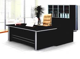 Modern Office Table Designs With Glass Executive Office Leather Paneled High Gloss Desk Set Des 0989