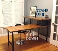 Wood Desk Plans by Desk Jarvis Reclaimed Wood Standing Desk Wood Stand Up Desk
