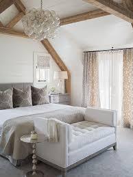 elegant master bedroom with floor to ceiling shiplap exposed wood