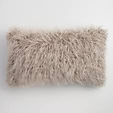Lumbar Pillows For Sofa by Oversized Mocha Mongolian Faux Fur Lumbar Pillow World Market