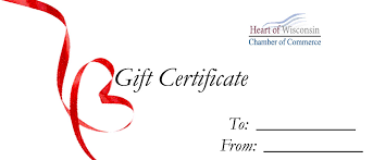 gift certificates gift certificates heart of wisconsin chamber of commerce wi
