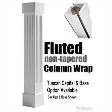 fluted column wrap pvc columns porch post surround