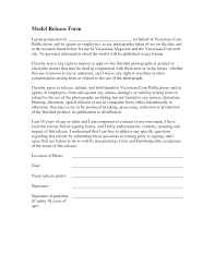 model release form template free minor model release form template images
