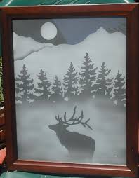 custom etched glass doors hand crafted framed etched glass for walls or windows