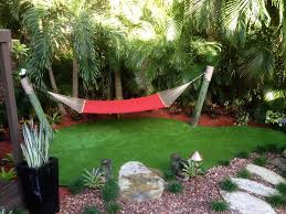 free standing hammock in landscape tropical with hammock stand