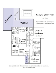 Sample Floor Plan Real Estate Professionals Bryant Appraisal Services Llc