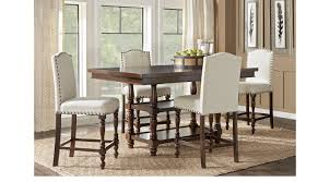 stanton cherry 5 pc counter height dining room with ivory