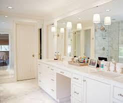 lighted vanity mirror bathroom traditional with his and her sinks