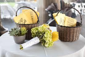 basket for wedding programs s wedding ceremony program fans