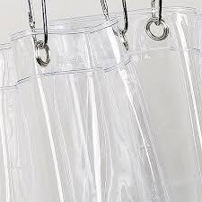 Shower Curtain Clear Vinyl Shower Curtain Liner Clear Walmart