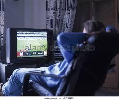 Armchair Sports Man Tv Armchair Stock Photos U0026 Man Tv Armchair Stock Images Alamy
