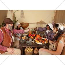 thanksgiving pilgrim family gl stock images