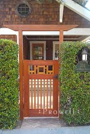 Arts And Crafts Garden - arts and crafts wood gate 38 by prowell woodworks