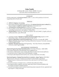 Electrician Resume Templates Electrical Resume Sample A Resume Template For An Electrical