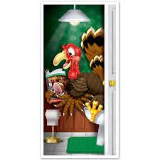 beistle 1 pack decorative turkey restroom door cover