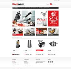 website template 45423 cookware kitchen supplies custom website