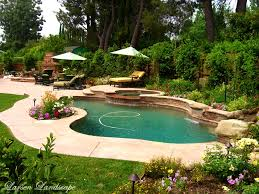 patio divine modern pool landscaping ideas rocks and plants