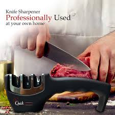 amazon com quick cocinero knife sharpener 3 stage professional