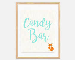 Baby Shower Candy Buffet Sign by Woodland Candy Bar Etsy