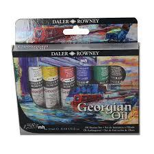 daler rowney artists georgian oil paint set 6 x 22ml starter set